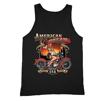 American Dream Tanktop USA Motorcycle Garage Route 66 Milwaukee Wisconsin Tank