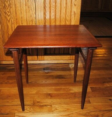 MCM Danish Modern End Side Occasional Table Denmark Style Vintage