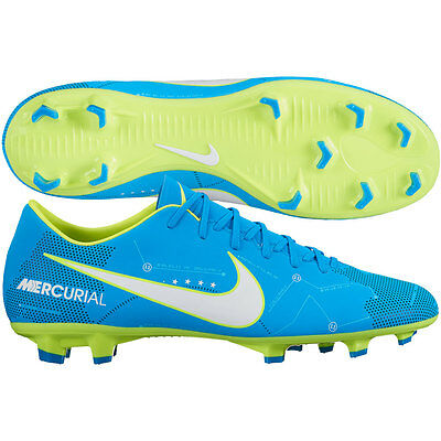 881e8a39c232 Nike Mercurial Victory VI FG Neymar NJR 2017 Soccer Shoes Blue Kids Youth