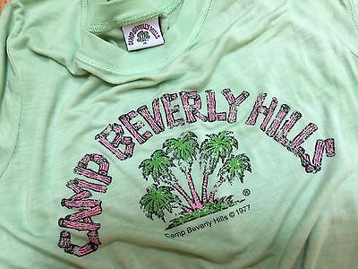 Vintage 1977 CAMP BEVERLY HILLS authentic T SHIRT Size MEDIUM iconic GREEN