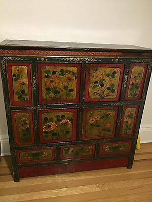 Antique Tibetan storage cabinet. 19th century. hand painted  (PRICE REDUCTION!)