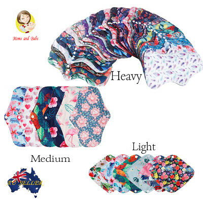 17pcs Pack Womens Reusable Menstrual Charcoal Cloth Sanitary Pads Flower Design