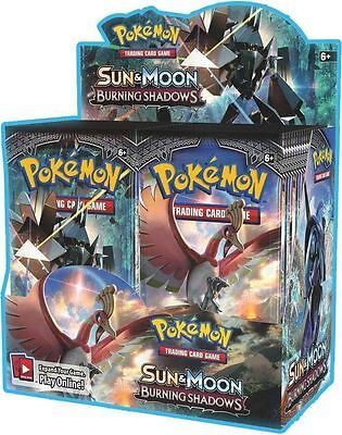 Pokemon Sun and Moon Burning Shadows Booster Box 36 Packs * New * in stock 4/8