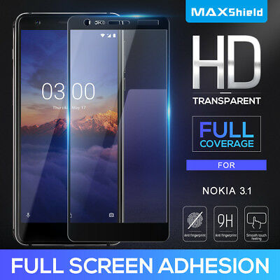 Full Coverage Tempered Glass Screen Protector for Nokia 6.2 7.2 3 3.1 6 6.1 7 8