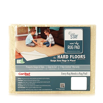 Rug Pad Eco Stay Non Slip Prevents Marring and Staining of Floor 8x10 Feet Rugs