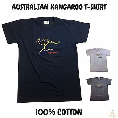 Adult AUSTRALIAN KANGAROO T Shirt Australia Day 100% COTTON Souvenir Tee Top