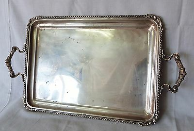 Vintage Sterling Silver Serving Waiter Tray ART NOUVEAU ornate platter 1.4kg