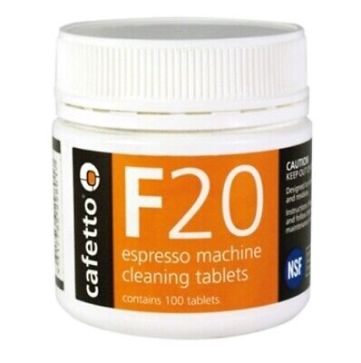 CAFETTO F20 100 Espresso Coffee Machine Cleaning Tablets