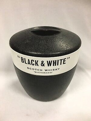 Black & White Scotch Whisky Ice Bucket Made By Walter Barr Enfield Nsw Australia