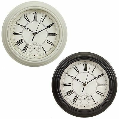 Vintage Style Roman Numerals Traditional Lincoln Wall Clock - Cream