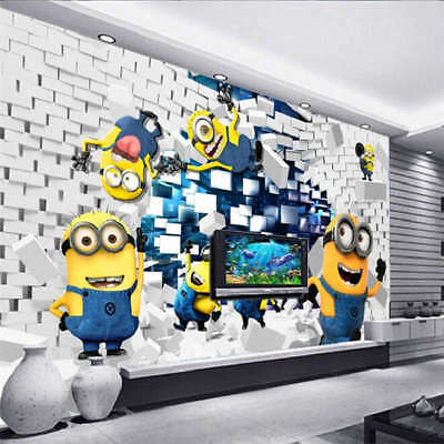 Many Cute Minions 3D Full Wall Mural Photo Wallpaper Printing Home Kids Decor