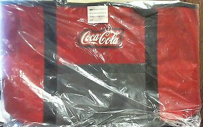 COCA-COLA Red and Gray Logo Over the Shoulder Tote Bag 19 in. - Still in plastic