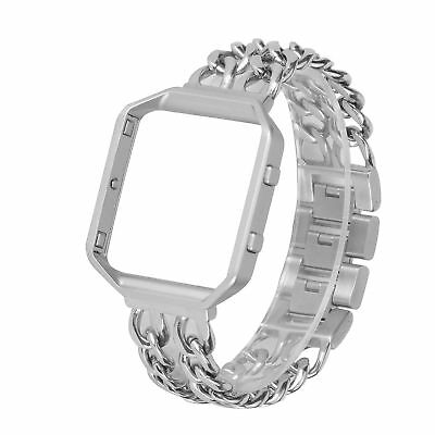 For Fitbit Blaze Band with Frame, WETAL Stainless Steel Chain Watch Band Adjust