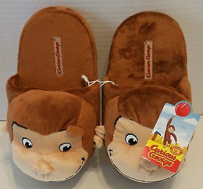 Curious George Monkey Adult Plush House Novelty Slippers Size M (7-8)
