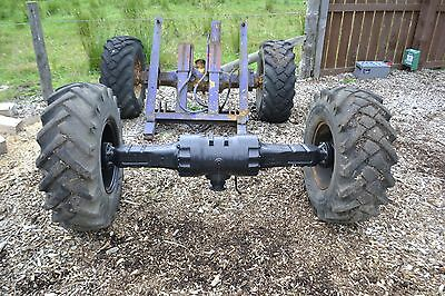 L@@K Winget 2.5 ton dumper 4x4 axles plus wheels and other parts/project.