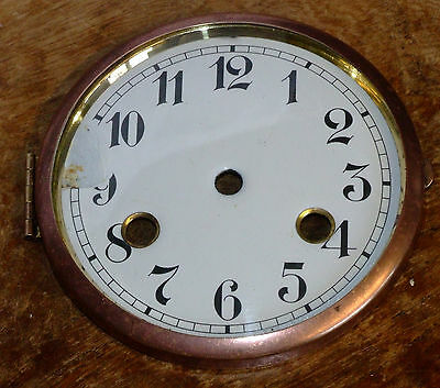 Spun Brass Clock Bezel with Dial