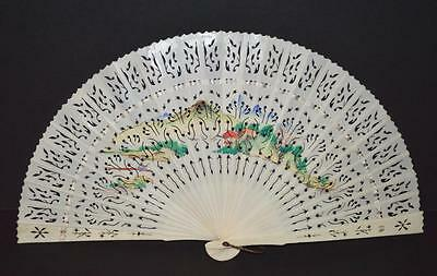 A Very Attractive ' Pierced ' Fan With Oriental Design.