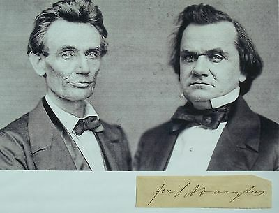 Stephen A. Douglas Senator From Illinois Debated Lincoln Autograph ''Rare''.