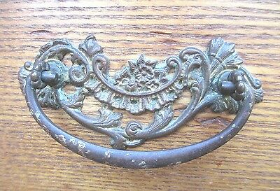 4 Antique set of ( 4 ) matching  /  Ornate Victorian Brass - FOUR - Draw Pulls