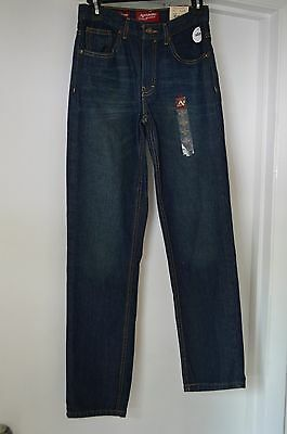 29X29  Boys Size 18 Slim Straight Jeans Adjustable Waist New With Tags!