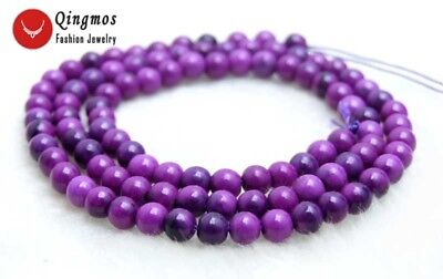 4mm purple Round Sugilite Loose Beads Strand 15'' Jewelry Making Necklace-l763