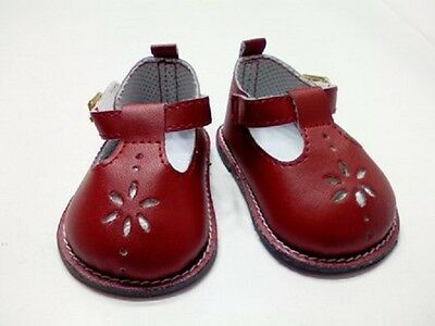 """Doll Clothes 18"""" Shoes Red Mary Jane Fits American Girl Dolls"""