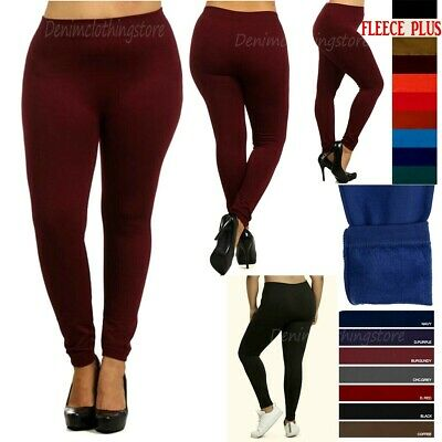 Plus Size Women Fleece Seamless Warm Thick Lined Winter Leggings Stretch Pants