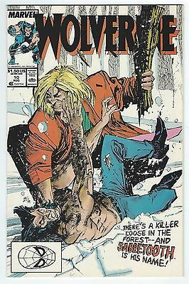 Wolverine #10 (Aug 1989, Marvel) 1st Sabertooth battle VF/NM