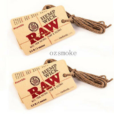 RAW Hemp Wick 1m Natural Unbleached Hemp and Beeswax (2 pk)
