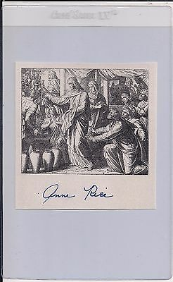 AUTOGRAPHED HAND SIGNED Bookplate Anne Rice, Jesus Water to Wine, COA FREE SHIP