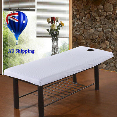 Beauty Massage SPA Bed Table Elastic Cotton Cover sheets + Face Breath Hole MN