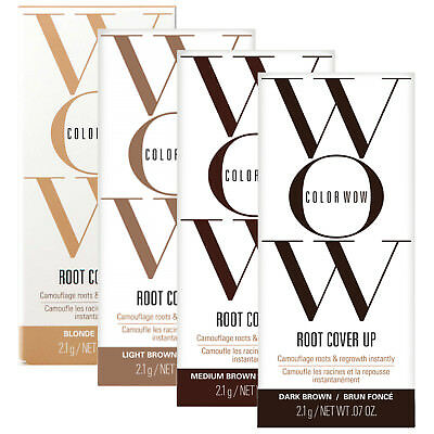 Color WOW Hair Root Cover Up Instant Concealer LIGHT / MEDIUM / DARK BROWN 2.1G