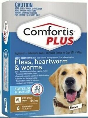 Comfortis Plus Brown for Dogs 27-54kg 6 pack