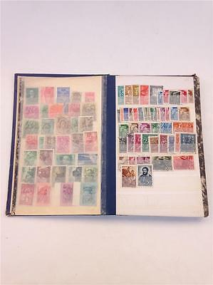 Vintage Postage Stamp Book with Approx 500 New & Used Hungarian Stamps