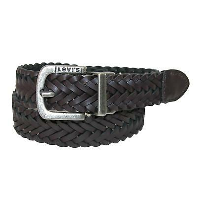 New Levis Boys' Reversible Braided Belt