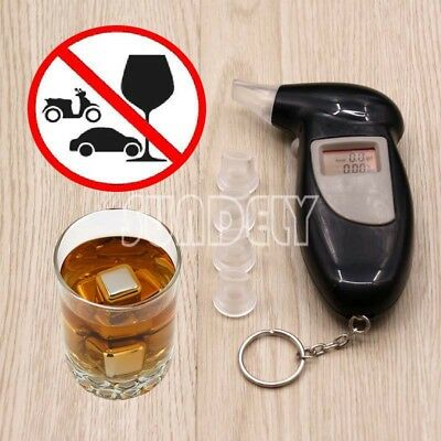 LCD Digital police breath breathalyzer test alcohol tester analyzer detector