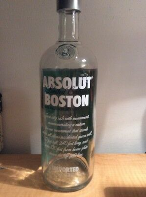 Limited Edition Absolut Vodka Boston-Red Sox Bottle 1Liter -empty