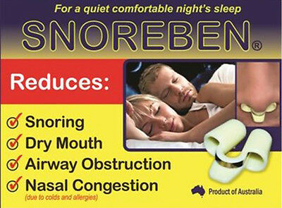 Snoreben Anti Snoring Device Nose Plug Nasal Congestion Sleep Breathing