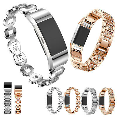 UK Stainless Steel Bracelet Strap Replacement Watch Fitness Fitbit Charge 2 Band