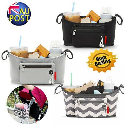 Travel Infant Baby Pram Storage Bag Diaper Bottle Organizer Pushchair Basket AUS