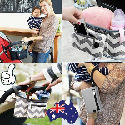 Travel Baby Pram Storage Bag Diaper Stroller Organizer Pushchair Bottle Basket A