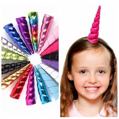 Beautiful Unicorn Horn Headwear Kids Bonus DIY Headband Hair Decorative