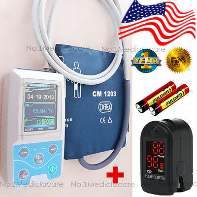 NIBP Ambulatory Blood Pressure Monitor, 24h holter+spo2 oximeter+software, US