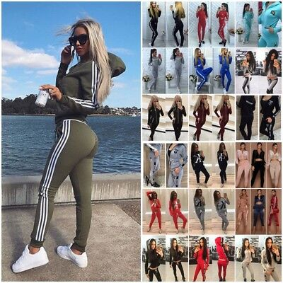 Women's Gym Fitness Top Leggings Running Sports Yoga Workout Wear Tracksuit UK
