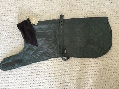 #082 BNWT Over 30% Off RRP Barbour Quilted Dog Coat Green Size XL