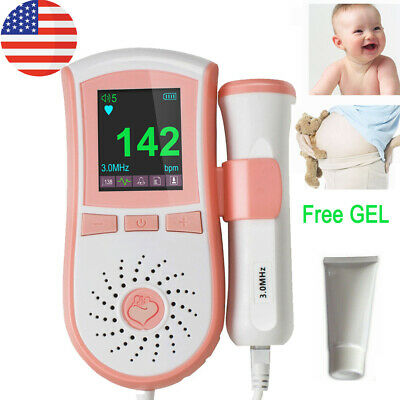 High Definition Color Fetal Doppler LCD Pocket Prenatal Heart Baby Sound 2MHz