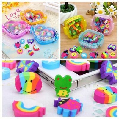 22Pcs/set Kawaii Cute Rubber Eraser Kid Gift School Supplies Stationery material