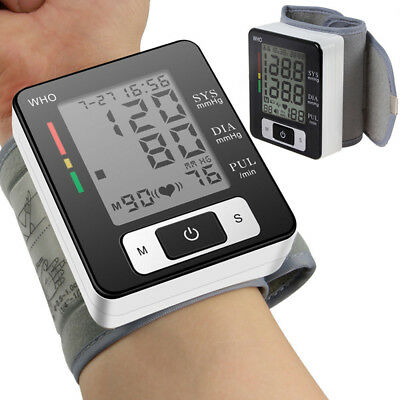 Automatic Wrist Blood Pressure Monitors Heart Rate Beat Pulse Meter Digital UK