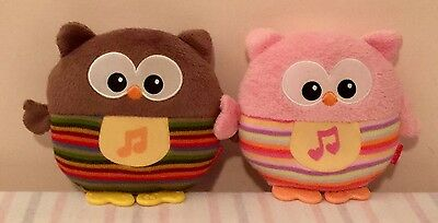 Fisher Price Soothe & Glow Owl - Brown & Pink
