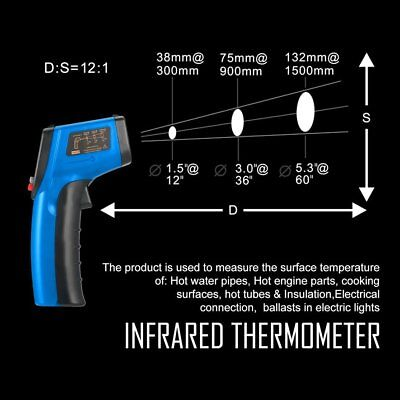 Non-Contact LCD IR Laser Digital Temperature Meter Sensor Infrared Thermometer D